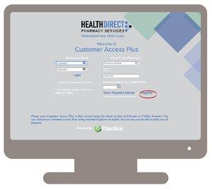 Online bill pay registration page screenshot